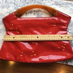 Vintage Lucious Red Patent Leather PURSE CLUTCH